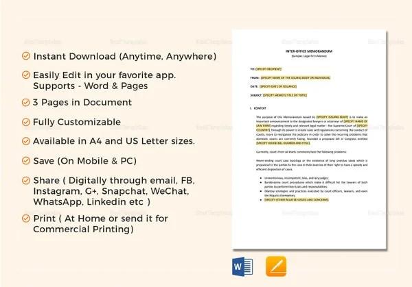 Internal Memo Templates - 16+ Free Word, PDF Documents Download
