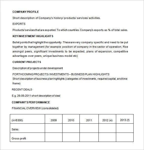20+ Investment Proposal Templates - PDF, DOC Free  Premium Templates