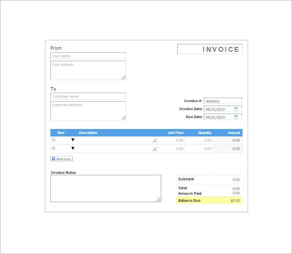 8+ Invoice Receipt Templates - DOC, PDF Free  Premium Templates - Billing Receipt Template