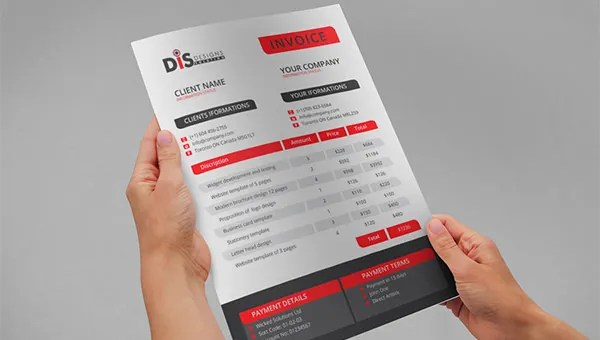 Invoice Template - 53+ Free Word, Excel, PDF, PSD Format Download