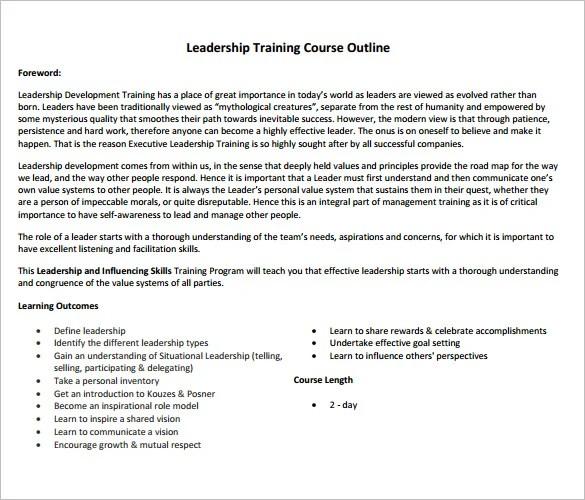 14+ Training Course Outline Template - DOC, PDF Free  Premium