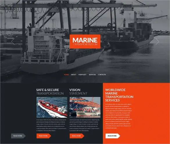 transportation website templates free download