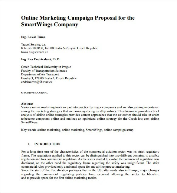 Marketing Proposal Template - 28+ Free Sample, Example, Format