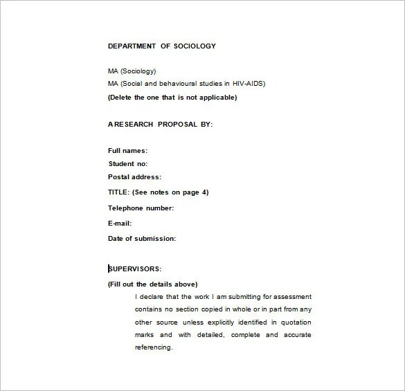 Research Proposal Templates - 17+ Free Samples, Examples, Format - research proposal template
