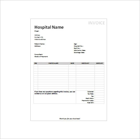 hospital bill template - Maggilocustdesign