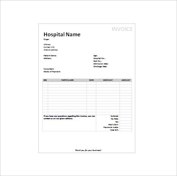 written receipt template