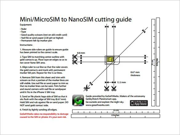 Micro Sim Card Template u2013 7+ Free Printable Word, PDF, PSD, EPS - micro sim template
