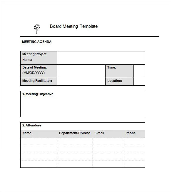 Minutes of Meeting Template - 7+ Free Sample, Example Format - meeting minute format