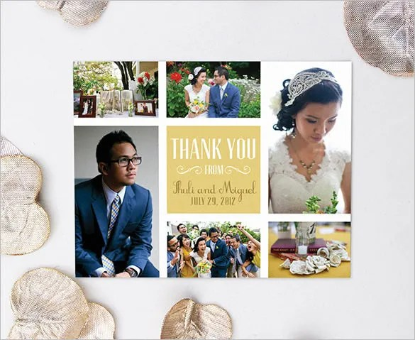 thank you collage photo cards - Selol-ink