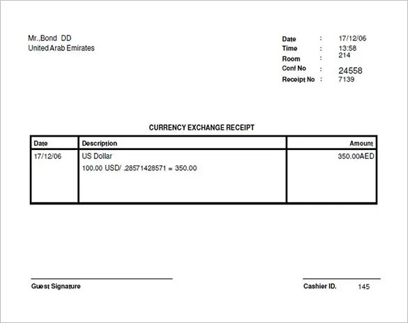Money Receipt Template - 19+ Free Sample, Example, Format Download - money receipt template