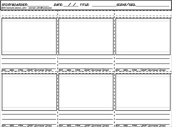 Animation StoryBoard Template - 8+ Free Word, Excel, PDF, PPT - free storyboard templates