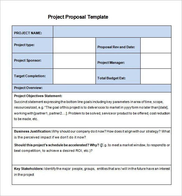 24+ Project Proposal Templates - PDF, DOC Free  Premium Templates - project proposal template sample