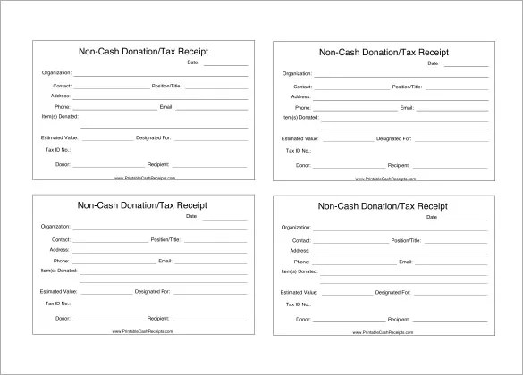 Donation Receipt Template u2013 9+ Free Word, Excel, PDF Format - examples of cash receipts