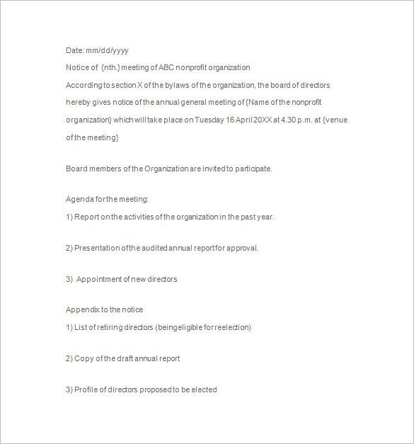 29+ Notice of Meeting Templates - PDF, DOC, PPT Free  Premium