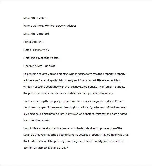 18+ Notice to Quit Templates - PDF, DOC Free  Premium Templates - notice to quit letter