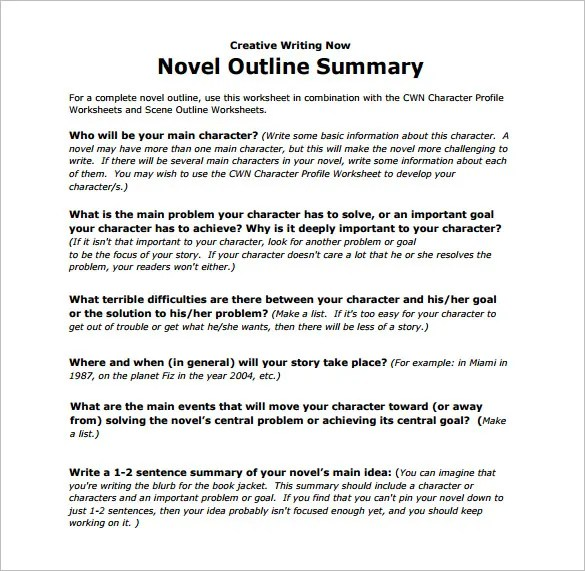 Outline Template u2013 78+ Free Word, PDF, PSD, PPT Format Download - book outline template