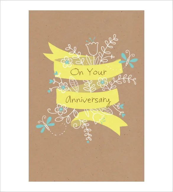 Anniversary Card Template - 10+ Free Sample, Example Format Download