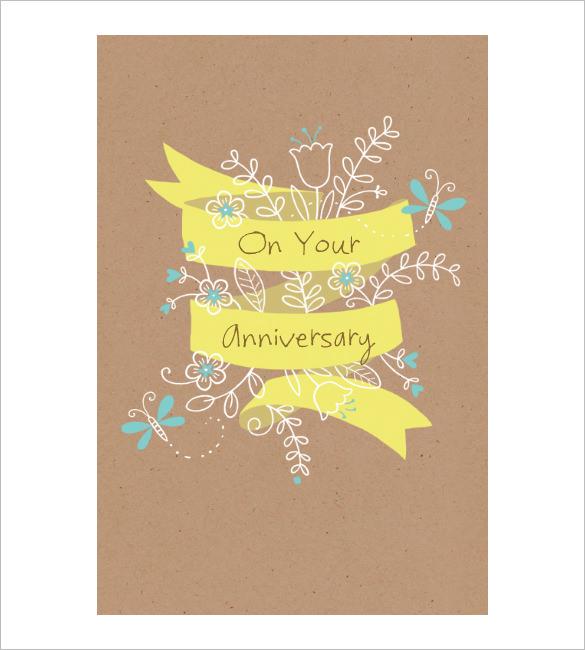 anniversary card template - Ozilalmanoof