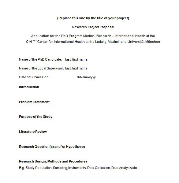 Research Proposal Templates - 17+ Free Samples, Examples, Format