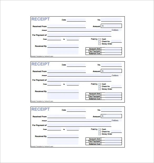 Invoice Receipt Template - 17+ Free Word, Excel, PDF Format Download - samples of invoices for payment