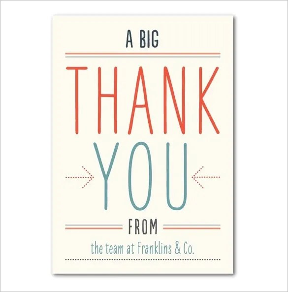 18+ Business Thank You Cards Free  Premium Templates