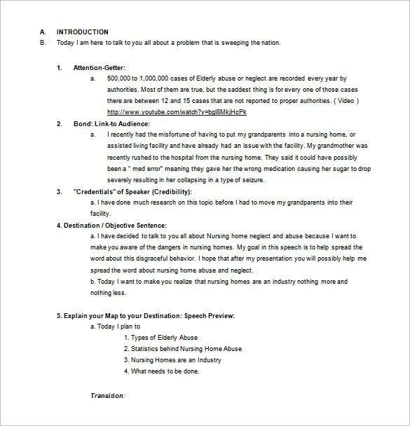 4+ Persuasive Speech Outline Templates - PDF, DOC Free  Premium