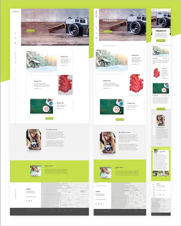 36+ Portfolio Website Themes  Templates Free  Premium Templates - online portfolio template
