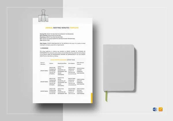 26+ Minutes Templates - Word, Excel, PDF Free  Premium Templates