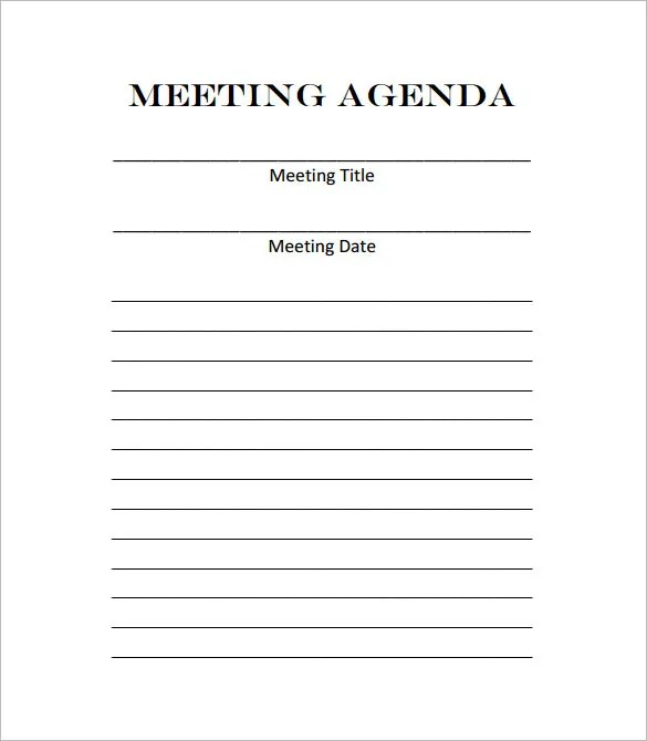 9+ Meeting Outline Template - DOC, PDF Free  Premium Templates