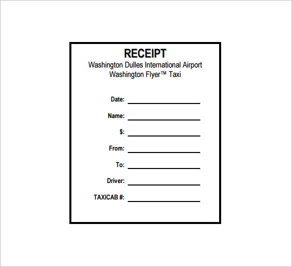 14+ Taxi Receipt Templates - DOC, PDF Free  Premium Templates