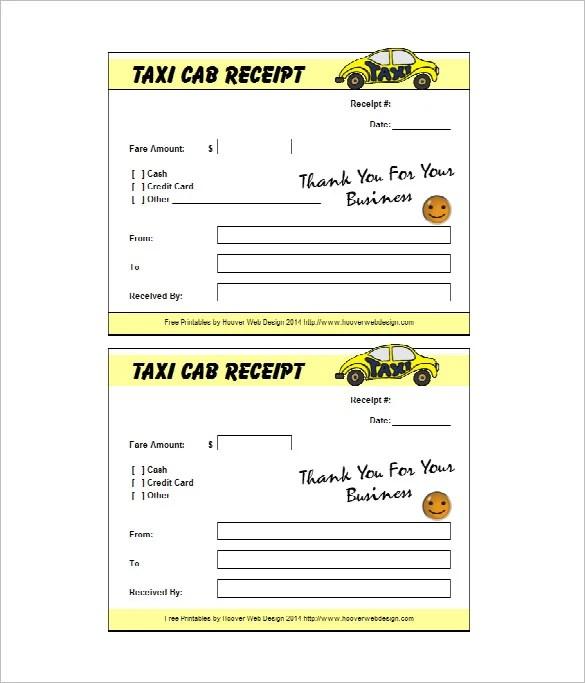 20+ Taxi Receipt Templates - PDF, DOC Free  Premium Templates - cash receipt format in word
