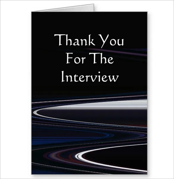 8+ Interview Thank You Cards \u2013 Free Printable PSD, EPS Format