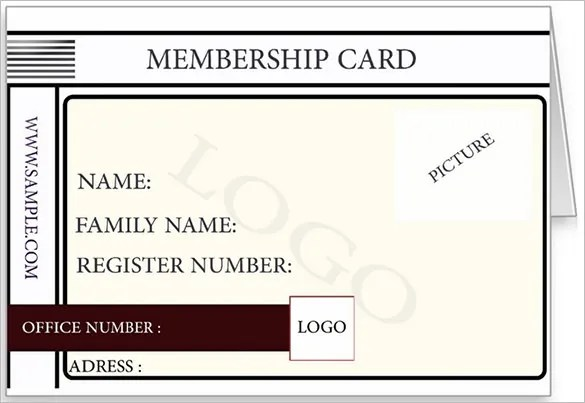 Membership Card Template - 25+ Free Sample, Example Format Download - membership cards templates
