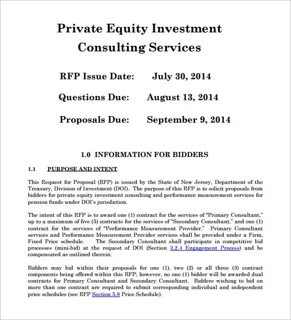 20+ Investment Proposal Templates - PDF, DOC Free  Premium Templates - sample investment proposal