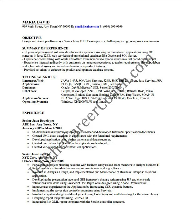 Entry Level Software Developer Resume - Gse.Bookbinder.Co