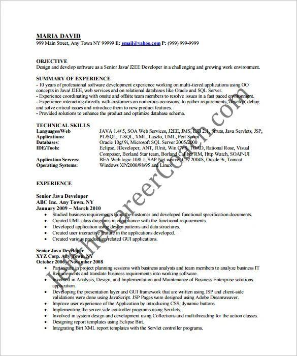 software developer functional resume sample