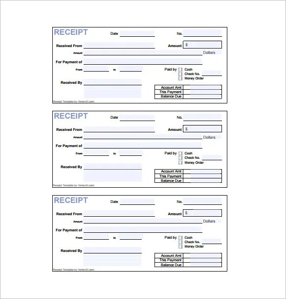 recept form - Deanroutechoice - Paid In Full Receipt Template
