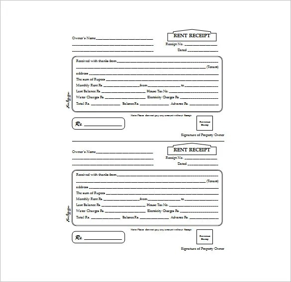 26+ Rent Receipt Templates - PDF, DOC, Xls Free  Premium Templates - house rent receipt form