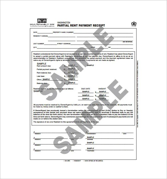 26+ Rent Receipt Templates - PDF, DOC, Xls Free  Premium Templates - monthly rent receipt