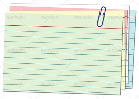 Index Card Template \u2013 11+ Free Sample, Example Format Download - note card template