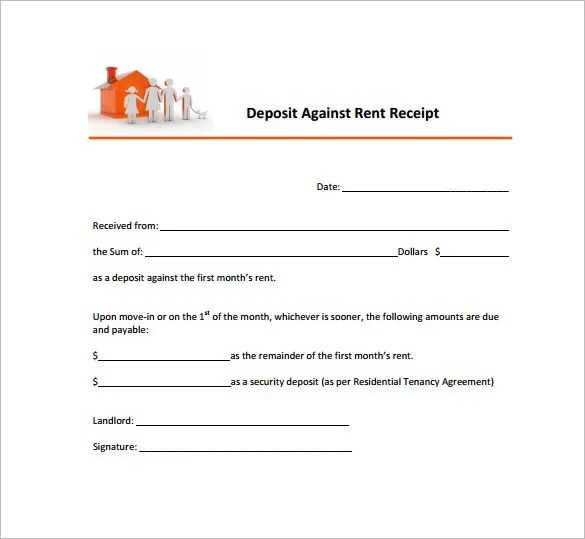 26+ Rent Receipt Templates - PDF, DOC, Xls Free  Premium Templates - format of house rent receipt