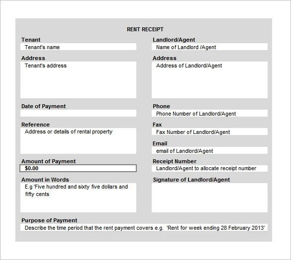 pg rent receipt format - zrom