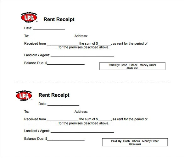 Free Rental Receipt Template. Example Resume For Job