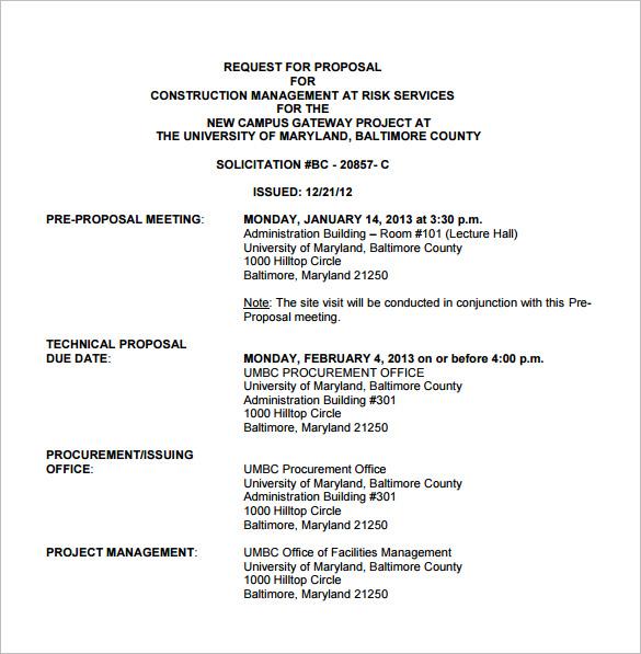 Construction Proposal Templates \u2013 15+ Free Sample, Example, Format - sample proposal template for project