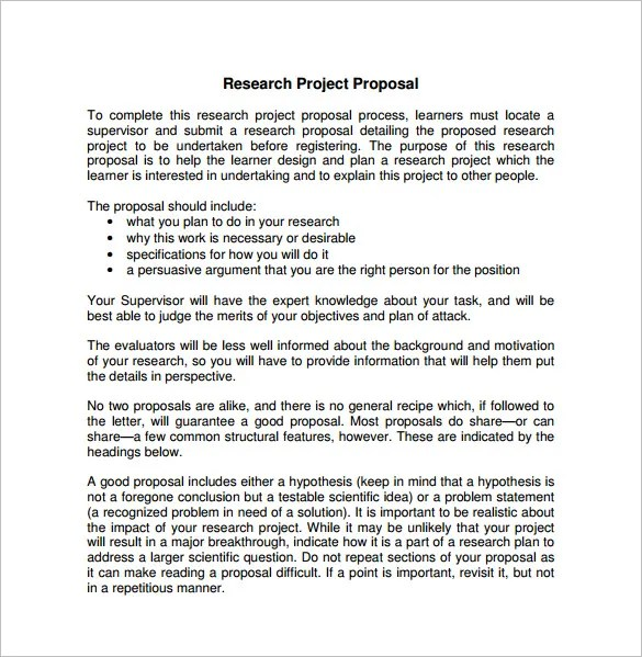 Project Proposal Templates - 18+ Free Sample, Example, Format - work proposal