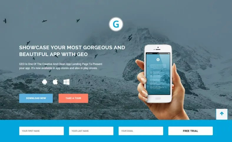 12+ Popular Bootstrap Landing Page Templates Free  Premium Templates - app landing page template