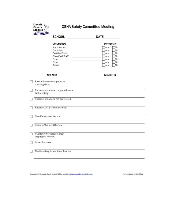 Committee Meeting Minutes Templates u2013 8+ Free Sample, Example - meeting minute format