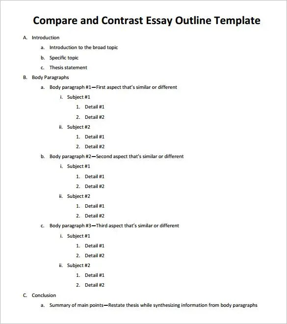 outline example essay - Goalgoodwinmetals - essay outline