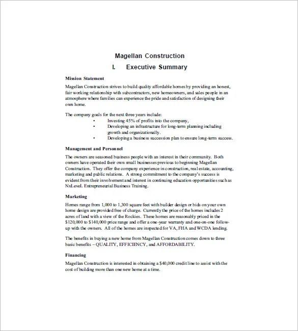 construction business proposal template - Onwebioinnovate