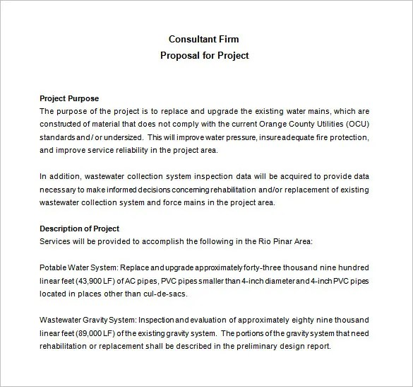 Consulting Proposal Templates - 15+ Free Sample, Example, Format - proposal contract template
